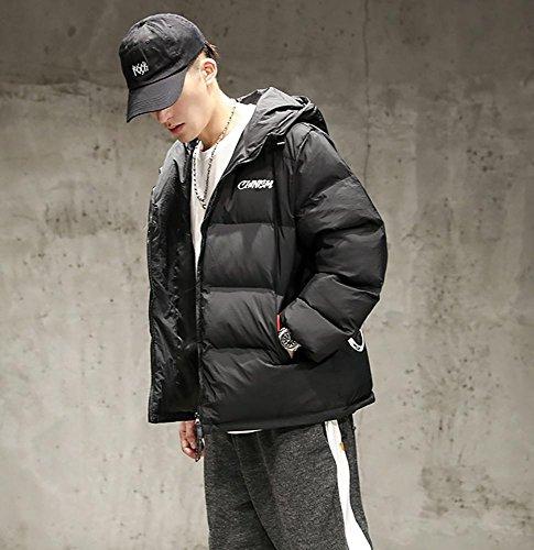con algodón invierno chaqueta vestir de hombres M prendas exteriores 2XL acolchado xl espesar black casual cálido con de cremallera capucha los de q0IgwxCC