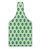 Lunarable Abstract Cutting Board, Antique Waves Pattern with Retro Design Geometric Graphic Tile Vertical Curves, Decorative Tempered Glass Cutting and Serving Board, Wine Bottle Shape, Multicolor