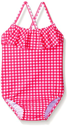 Carter's Baby One Piece Ruffle Gingham Swimsuit, Pink, 12 Months - Gingham Girls Swimsuit