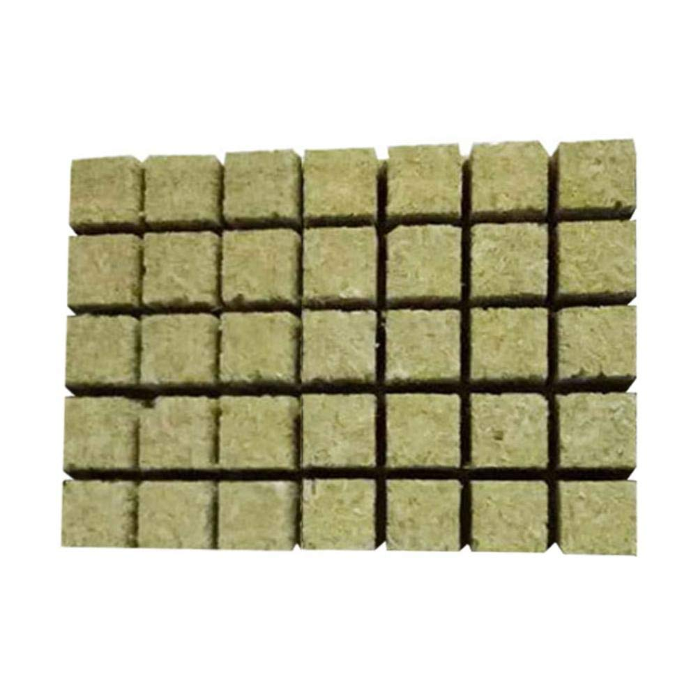 Loveinwinter 49pcs Rock Wool Hydroponics Cutting Cubes Agricultural Cuttings Seedlings 36X36X40mm Rockwool Soilless Culture Substrate