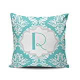 Best Lavievert LTD Bath Pillows - Fanaing Aqua Mint and Turquoise Blue White Damask Review
