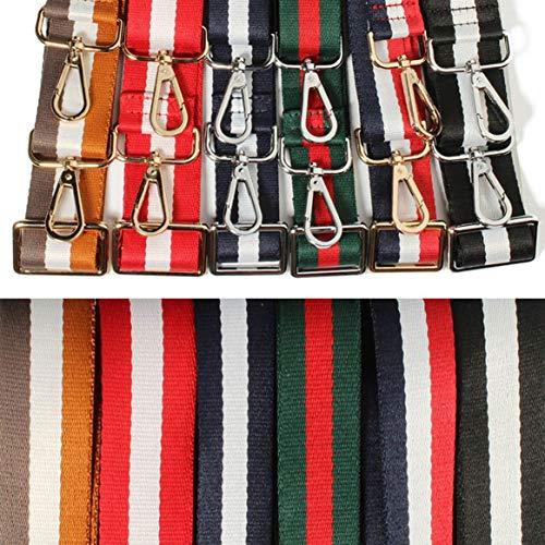 Bolsa Colorido para de hombro Color Correa de Bolso moda la de ajustable Bolso de mensajero Reemplazar mezcla para el hombro Correa Decoración Correa rUHcnWrz