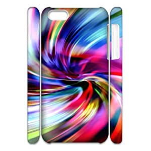 3D Colorful 325 IPhone 5C Case, Unique Design by Rock Case Iphone 5c Cases for Teen Girls Okaycosama {White}