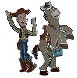 Disney Pin #73453: Woody and Bullseye-Two Pin Set