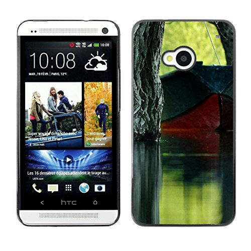 Soft Silicone Rubber Case Hard Cover Protective Accessory Compatible with HTC ONE M7 2013 - Plant Nature Forrest Flower 62