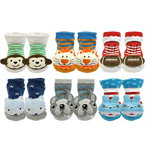 Baby 3D Anti-Slip Socks Set of 3 - 2