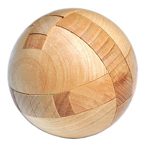 KINGOU Wooden Puzzle Magic Ball Brain Teasers Toy Intelligence Game Sphere Puzzles For -