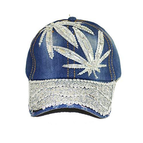 Deer Mum Ladies US Flag Denim Jean Campagne Bling Ajustable Baseball Cap Cowboy Hat ()