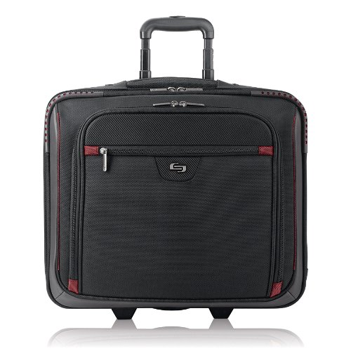 Overnighter Brief Bag (Solo Sterling Executive Rolling Computer Case with Telescoping Handle for 16-Inch Laptops (STL905-4))