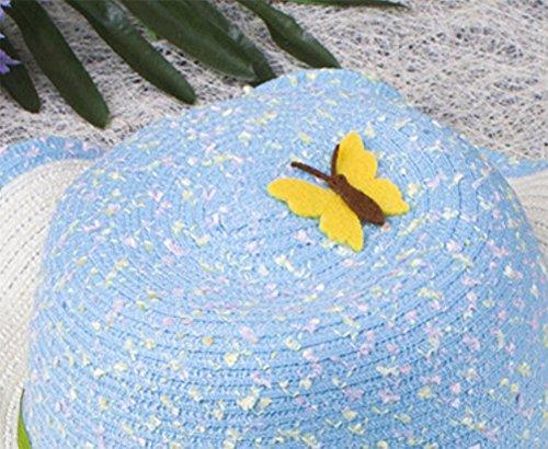 Leisial Enfant Capeline de Paille Chapeau à large bord pour 2-4 ans Enfant  Fille  Amazon.fr  Vêtements et accessoires c17ba39f1ed
