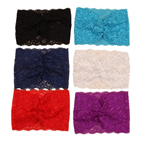 Century Star Womens Elegant Wide Lace Wave Pattern Ladies Hairbands Headband 6PCS