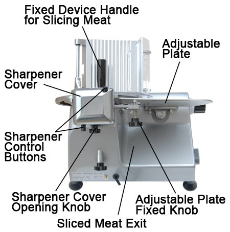 Professional Stainless Steel Electric Food Slicer Butcher