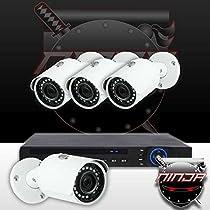 Ninja 4 Megapixel IP Mini Bullet Camera 4CH Kit