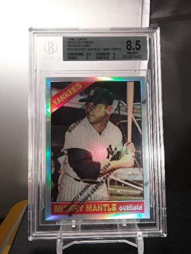 Mickey Mantle 1996 Topps Finest 1966 Refractor Beckett BGS 8.5 New York Yankees
