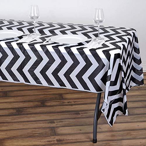 Grey Chevron Plastic Tablecloth (Efavormart 5 Pcs 54