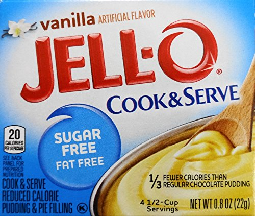 (Jell-O Vanilla Pudding, Sugar Free, Cook & Serve (5 Pack))