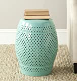 Safavieh Castle Gardens Collection Diamonds Light Blue Ceramic Garden Stool