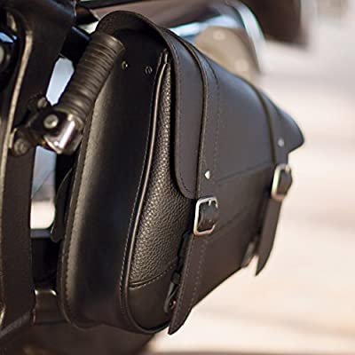 Dowco Willie & Max 59776-00 Triangulated Synthetic Leather Motorcycle Swingarm Bag: Black, 9 Liter Capacity: Automotive
