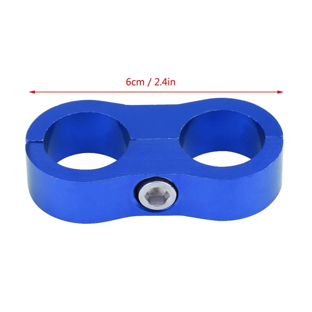 nero // KIMISS AN10 Staffa adattatore per fascette stringitubo in lega di alluminio universale