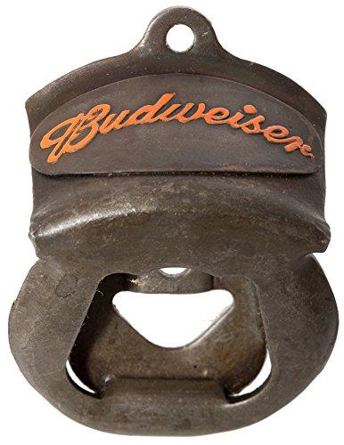 Antique Finish Vintage Budweiser Wall Mounted Beer Soda Bottle Opener (Budweiser)
