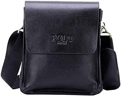 Videng POLO Men Messenger Leather Cross Body Bag