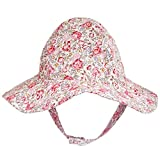 Huggalugs Baby Girls Meadow Flower Sunhat UPF 50+ - Multi -