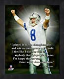 Troy Aikman Dallas Cowboys Pro Quotes Framed 8x10 Photo