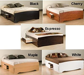 Amazon Com Queen Size Storage Platform Bed W 6 Underbed Dresser Drawers Furniture Decor