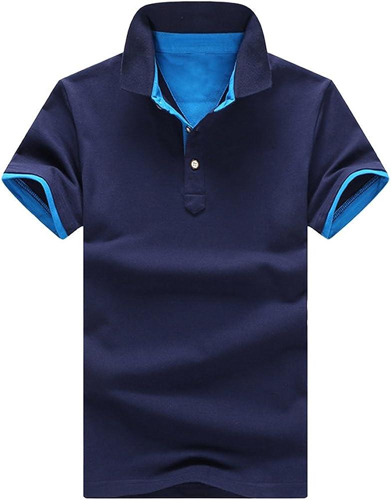 Polo para Hombre De Manga Corta Casual Camisas Polo T-Shirts Tops ...