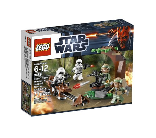 LEGO Star Wars Figure Packs For Sale Endor Rebel Trooper and Imperial Trooper 9489