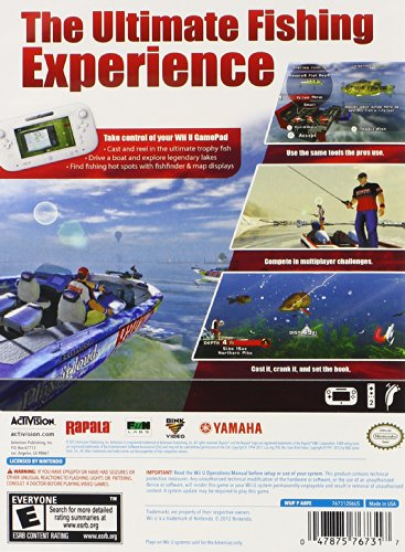 Rapala pro fishing 2012 nintendo wii u for Wii u fishing game