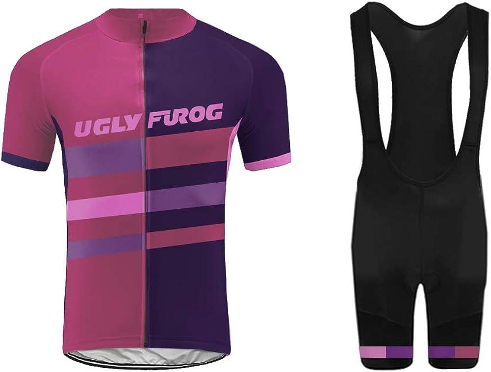 Uglyfrog 2018-2019 Bike Wear Estilos Calientes y Recientes Ciclismo Mujers Maillots Sports Seco y Transpirable de Bicicleta Conjunto de Ropa de Ciclo Jersey de Manga Corta/Bib Tight Sets