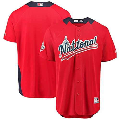 Majestic Athletic Men's National League 2018 MLB All-Star Game Home Run Derby Team Jersey – Scarlet XL  (Derby Jersey)