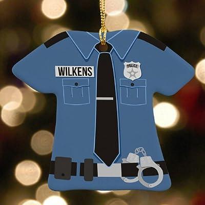 Personalized Police Uniform Ornament