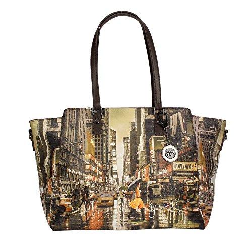 Y NOT?? K-398 Shopper Mujer New York Print