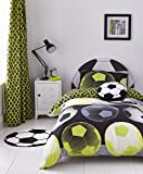 Catherine Lansfield Neon Football Easy Care Single Duvet Set Yellow
