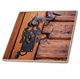 3dRose Danita Delimont - Architecture - Romania, Brasov. Door handle, key hole. - 6 Inch Glass Tile (ct_277855_6)
