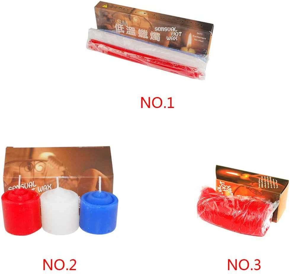 MuLuo 3pcs//1pcs Low Temperature Drip Candles SM Bed Restraints Sex Products for Women Men Lover Toys Passion Dripping Wax Game