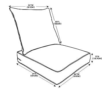 amazon qilloway outdoor indoor deep seat chair cushions set  amazon qilloway outdoor indoor deep seat chair cushions set replacement cushion for patio furniture navy blue garden outdoor