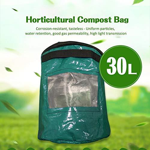 Agennix Store 30L Organic Waste Kitchen Garden Yard Compost Bag Environmental Cloth Planter Kitchen Waste Disposal Organic Compost Bag