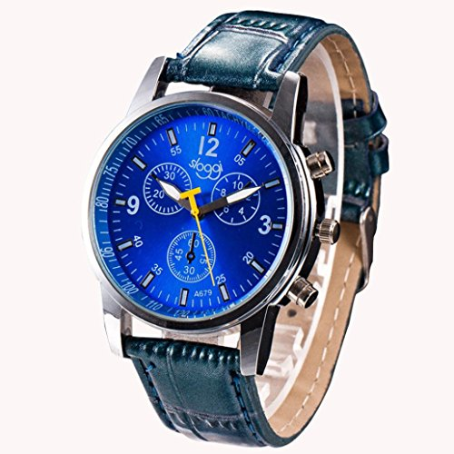 Crystal Glass Stainless Steel Watch - 9