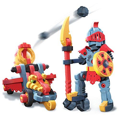 Bloco Toys Dragon Knight & Catapult | STEM Toy | Medieval Fantasy | DIY Building Construction Set (160Piece)