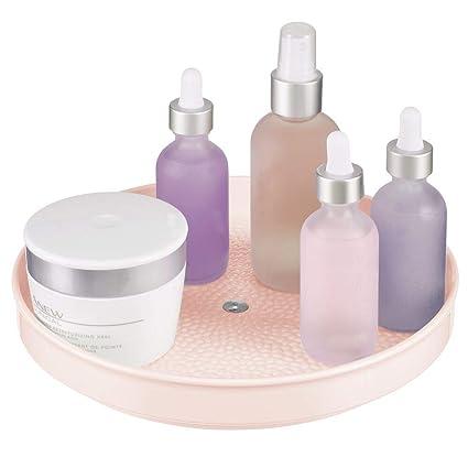 Mdesign Rangement Maquillage Tournant Organisateur Maquillage Pour Cosmétiques Et Médicaments Meuble De Rangement Rond Pour Salle De Bain Et