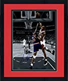 Framed Scottie Pippen Chicago Bulls Autographed 16'' x 20'' Spotlight Dunk On Patrick Ewing Photograph - Fanatics Authentic Certified