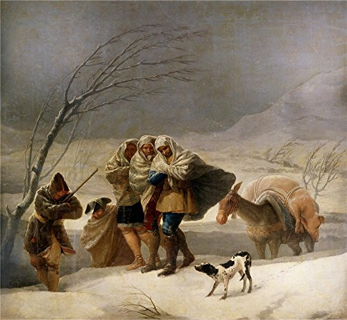 Oil Painting 'Goya Y Lucientes Francisco De The Snowstorm Or Winter 1786 87 ' Printing On Perfect Effect Canvas , 20 X 22 Inch / 51 X 55 Cm ,the Best Garage Decor And Home Artwork And Gifts Is This High Quality Art Decorative Canvas Prints