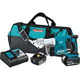 Makita XSJ01T 18V LXT Lithium-Ion Cordless 18 Gauge Straight Shear Kit (5.0Ah),