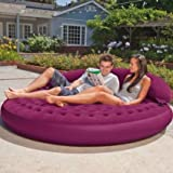 Intex Ultra Lounge Queen Size Inflatable Velvet Sofa Cum Bed
