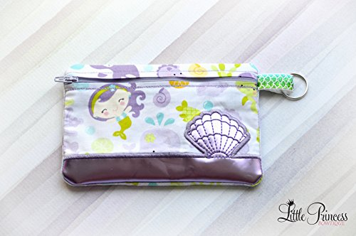 Cosmetic Bag, Mermaid Bag, Toiletry Bag, Makeup Bag, Seashell Bag by Little Princess Bowtique