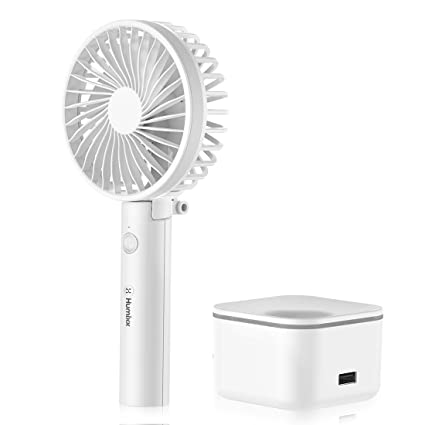 2600 mAh Small Portable Personal Mini Desk Table Folding Fan with USB Rechargeable Battery Operated Electric Fan for Office Outdoor Sport Household Traveling Camping Black Handheld Fan