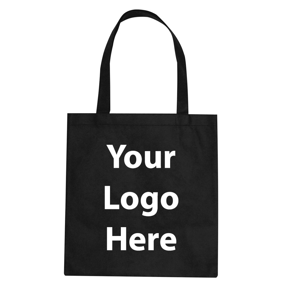 "Promotional Tote Bag - 100 Quantity - $1.35 Each - PROMOTIONAL PRODUCT / BULK / BRANDED with YOUR LOGO / CUSTOMIZED. Size: 15""W x 16""H 24"" handles."